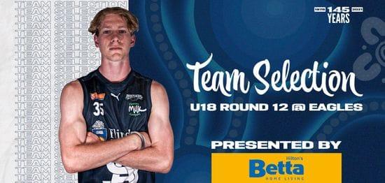 BETTA Team Selection: Under-18 Round 12 @ Eagles