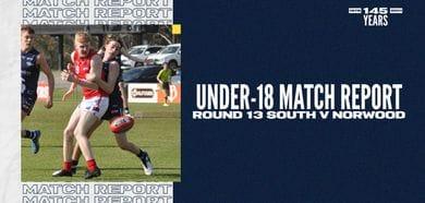 Under-18 Match Report: Round 13 vs Norwood