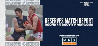 MRS Property Reserves Match Report Round 14: vs Norwood