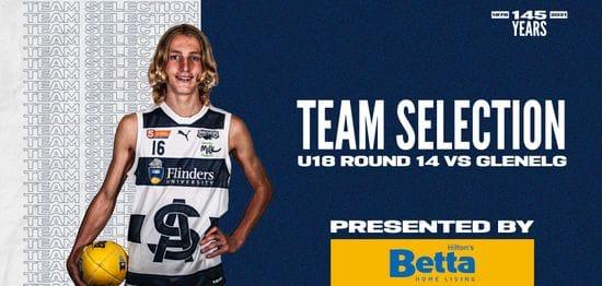 BETTA Team Selection: Under-18 Round 14 vs Glenelg