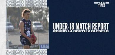 Under-18 Match Report: Round 14 vs Glenelg