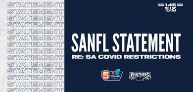 SANFL STATEMENT: RE SA COVID RESTRICTIONS