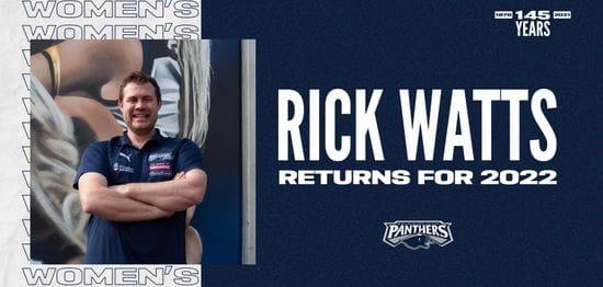 Rick Watts to return as Senior Women's Coach