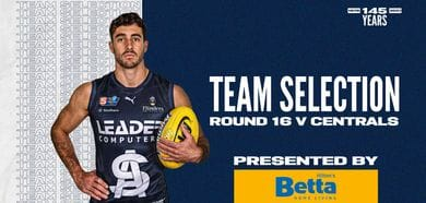 BETTA Teams Selection: Round 16 v Central District
