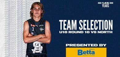 BETTA Team Selection: Under-18 Round 16 vs North Adelaide