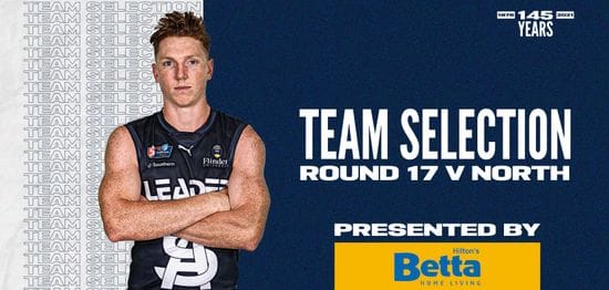 BETTA Teams Selection: Round 17 v North Adelaide