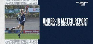 Under-18 Match Report: Round 16 vs North Adelaide