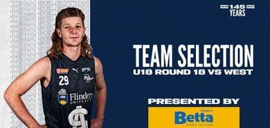 BETTA Team Selection: Under-18 Round 18 @ West Adelaide