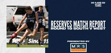 MRS Property Reserves Match Report Round 19: vs West Adelaide