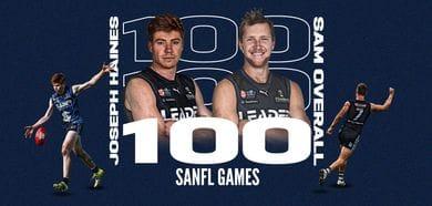 Joe Haines & Sam Overall 100 Games.