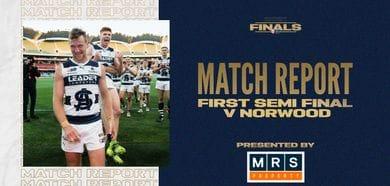 MRS Property Match Report First Semi Final: vs Norwood