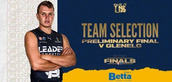 BETTA Teams Selection: Preliminary Final v Glenelg