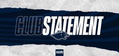 Club Statement: Football Department