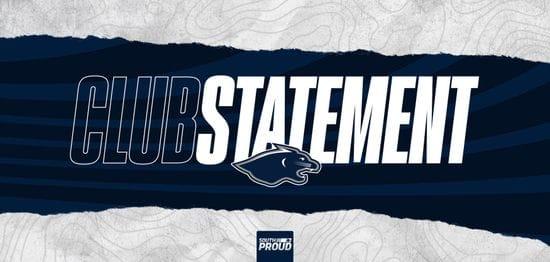 Club Statement: Football Department Update