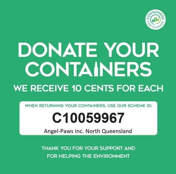 Containers for change angel paws inc