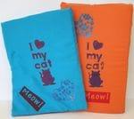 """""""I love my cat"""" Mat, blue or orange"""