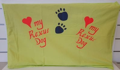 "Lime ""Love my Rescue Dog"" mat"
