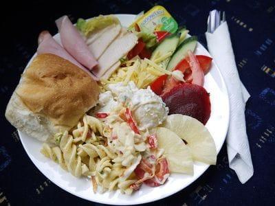 Freshly prepared cold buffet lunch Reefstar Cruises