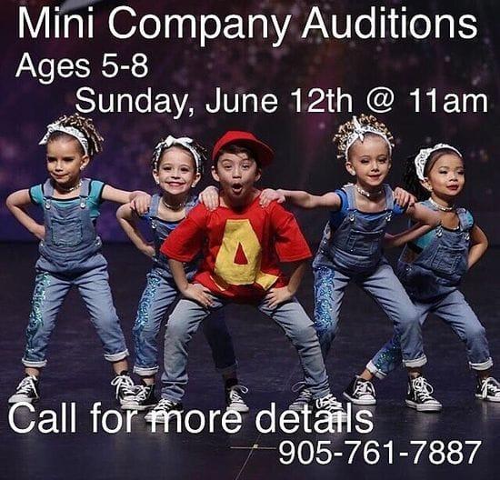 Mini Auditions Sunday June 12, 2016