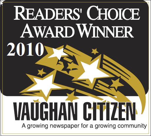 The Dance Zone readers choice award 2010 for best dance studio Vaughan