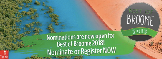 Registrations open for Best of Broome Awards