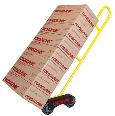 Hand truck and trolleys by Rotacaster including the Rotatruck Self Supporting Hand Truck