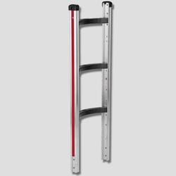 """Frame, Curved Back, Alum, 990mm/39"""" with moulded cross members, Magliner"""