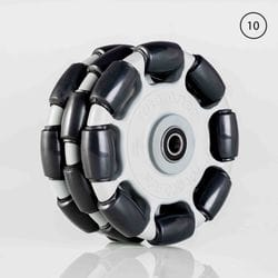 Rotacaster 125mm Triple Polyurethane Roller / Sealed Bearing 10mm