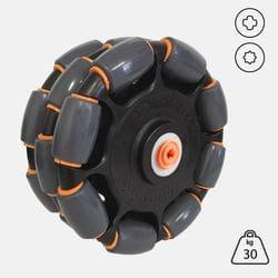 Rotacaster 125mm Triple 85A Polyurethane TPE roller/- Lego or Vex Hub Adaptor