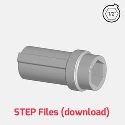 3D Step File - 1/2inch hex VEXPro printable hub for use with 125mm R2 Rotacaster Robotic Wheels