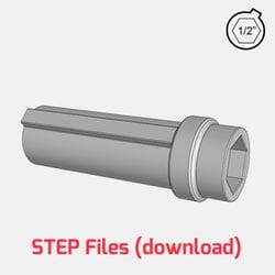 3D Step File - 1/2inch hex printable hub for use with 125mm R3 Rotacaster Robotic Wheels