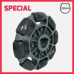 "125mm R1 Rotacaster Single Wheel, 7/8"" (22mm) keyed bore"