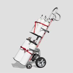 Multi Gas Cylinder Hand Truck Dual Nose
