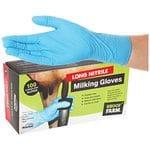 Milking Gloves Long Nitrile Large/100