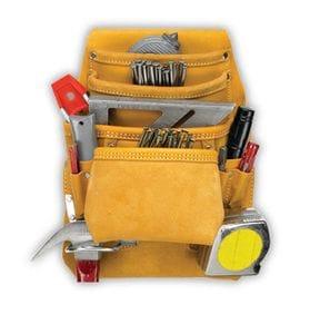 Kuny AP1933 10 Pocket Nail & Tool Bag (full grain leather)