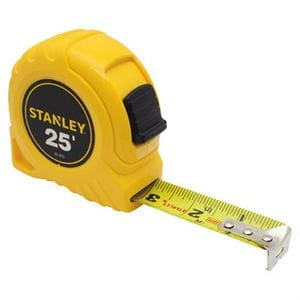 "Stanley 1""x 25' Tape Measure"