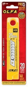 OLFA HB20 SUPER HEAVY DUTY BLADES 20/PKG