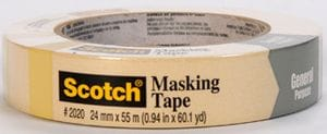3M 2020 Gen Purpose Mask Tape 48mm 18/case