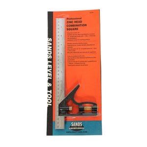 "Kraft 12"" Professional Combination Square - Zinc Head"