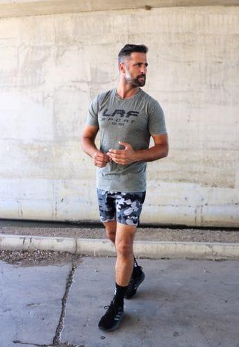 LRF Athletic Short - Black & Grey Camo