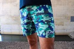 LRF Athletic Short - Green & Blue Camo
