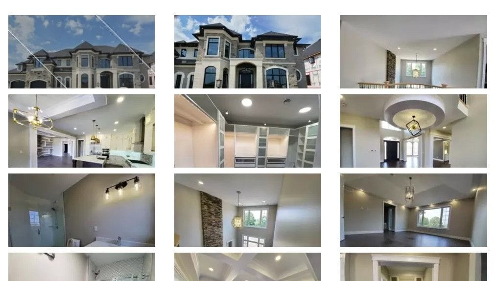 Snapshot of the Windsorland Homes website featuring the Bloomtools Photo Gallery