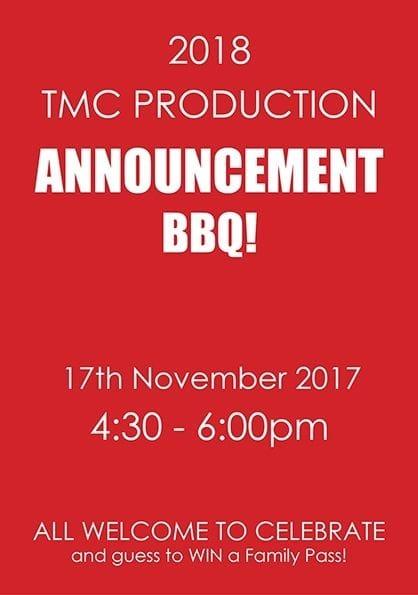 2018 Production Announcement BBQ