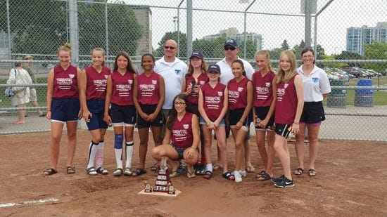 Congratulations Whitby Novice Girls Softball Team!