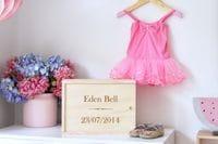 Baby Keepsake Box- Name & DOB