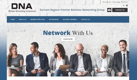 Website Launch for Durham Networking Association
