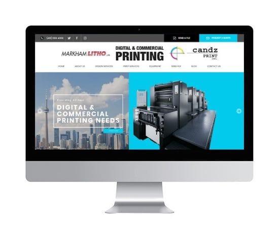Markham Litho Website Design Launch