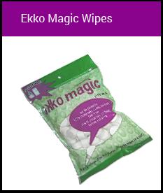 Groova products ekko magic wipes just add water