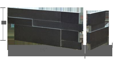 Stone veneer - Aksent 3D Ebony Basalt Corner