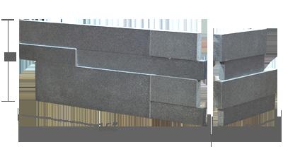 Stone veneer - Aksent 3D Grey Basalt Corner